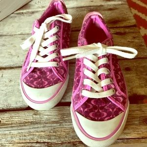 Coach pink sneakers in GUC. Size 35.5/5-5.5